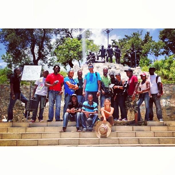 Les heros de Vertieres #graphcity #crew #haiti #haititourism #ayitise #filming #bts