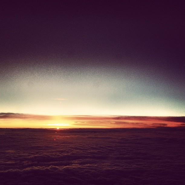 Sunset from the plane #aa #americanairlines #flying #sunset #plane #cloudscape