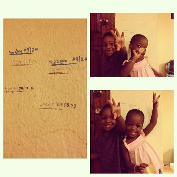 On grandit vite #twins #siblings #love #happydad #height #growingkids  (at Laboule 10)