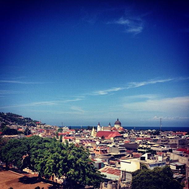 Okap city #haiti #city #landscape #haititourism #sky  (at College Notre Dame du Perpetuel Secours)