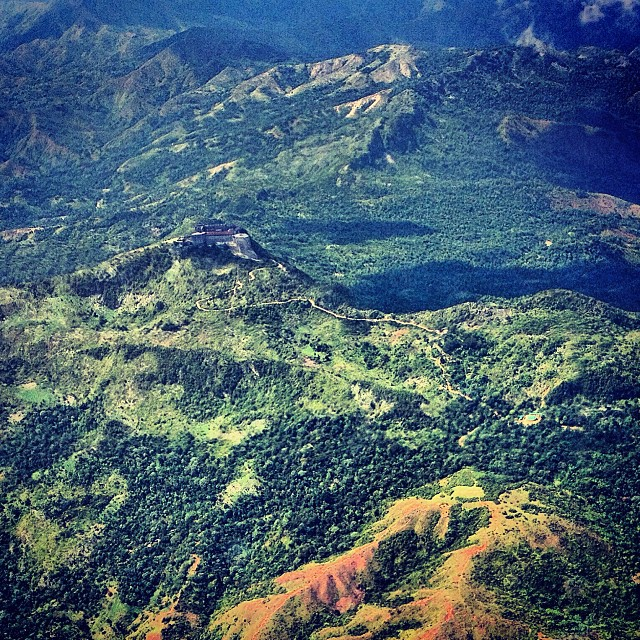 La Citadelle from above  #haiti #haititourism #plane #mountains #independence #history #proud