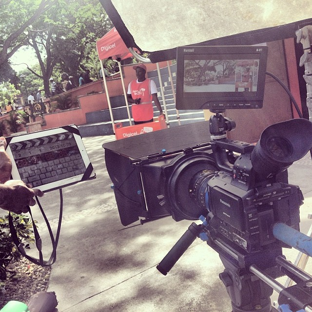 Aaaction!! #filming #commercial #panasonic #cooke #lens #graphcity  #dp #directorofphotography #haiti  (at Place Boyer)