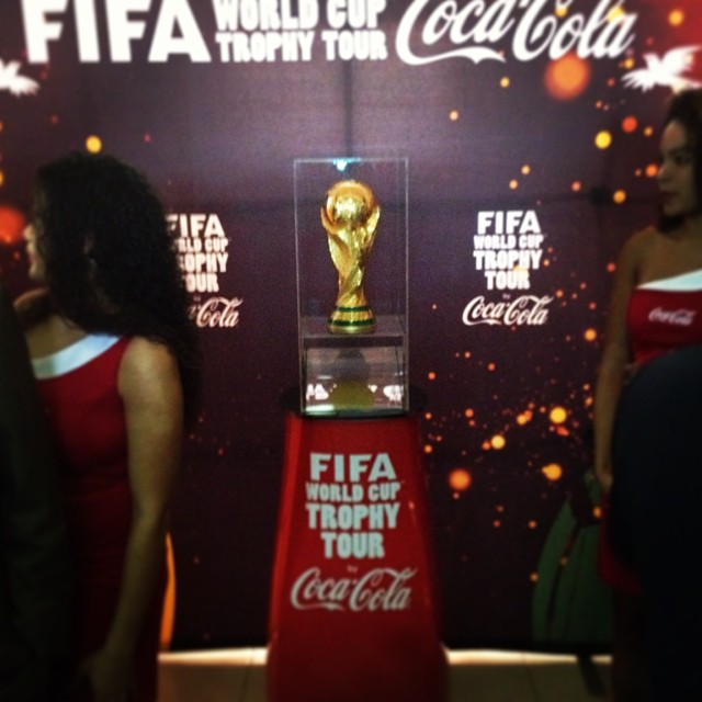 The Cup #fifa #worldcup #trophy #cocacola #haiti #fhf #hrmarsan  (at Salon Diplomatique)