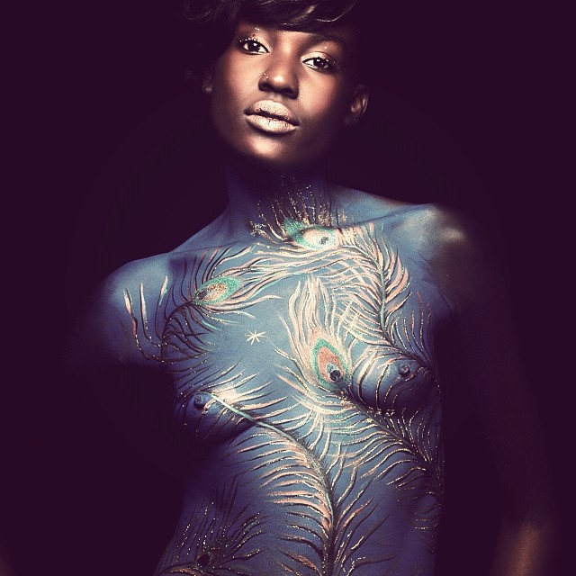 Body painting @kristineledan #bravo @zoulemakeup #inspired #fashion #haiti #hrmarsan  (at Graphcity)
