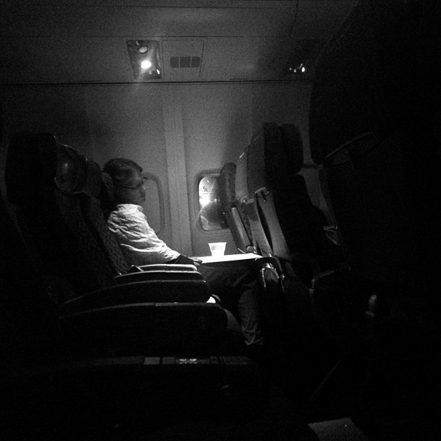 That was a quiet flight #travel #plane #americanairlines #miami #bnw #hrmarsan #sleeping