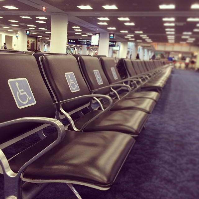 Blue Priority #handicap #seat #airport #travel #access #miami  (at Miami International Airport (MIA))