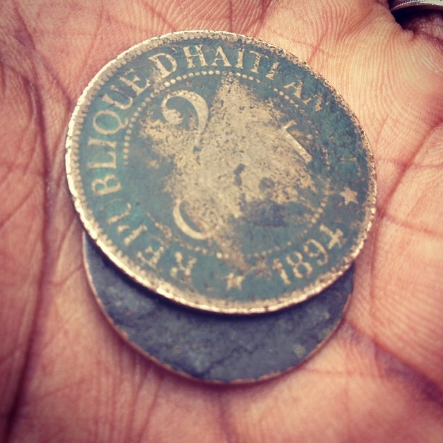 Old coins #1895 #2cent #republiquedhaiti #haiti #haititourism #coins #currency #rare #oldmoney