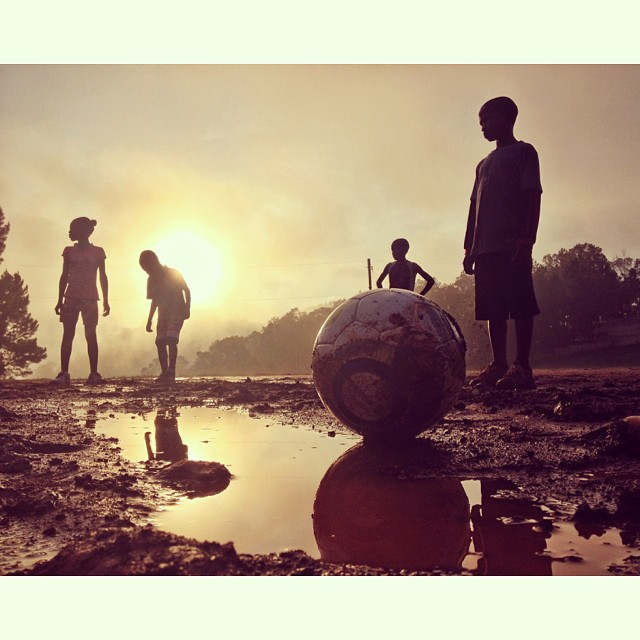 The goal #football #haiti #inspired #kids #soccer #sport #filming #commercials #dp #directorofphotography #reflection #field