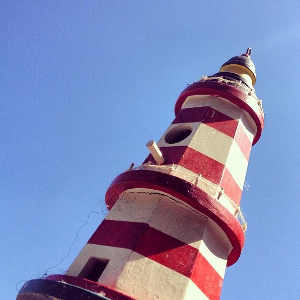 Mini lighthouse #WHPlighthouse #sky #lighthouse #blue #photography