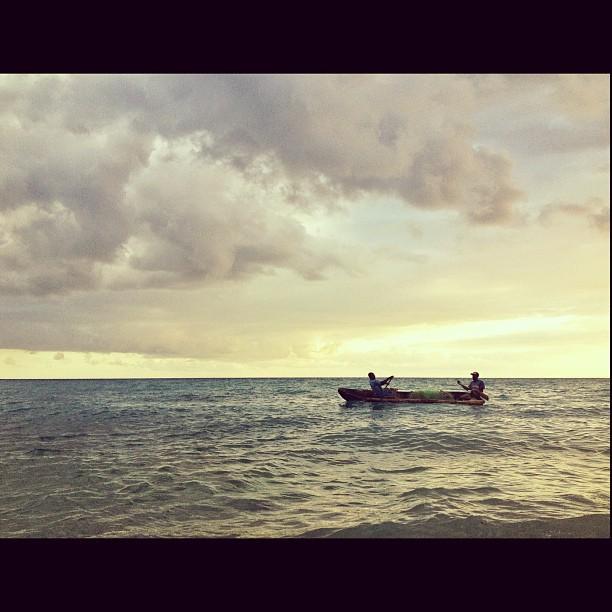 Fishermen #fish #fishing #kanot #InstaSize #haiti #haititourism #sea #sunset #dramasky #sky #photographer