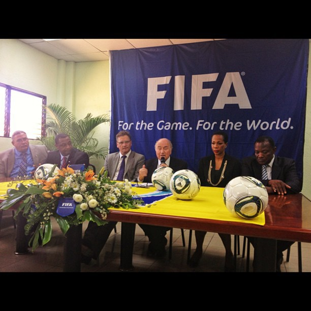 Press conference Sepp Blatter #president #fifa #fhf #haiti #football #goal #project