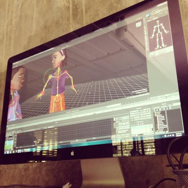 3D Artist life! #motionbuilder #vicon #3danimation #graphcity #Haiti #studio @guyd0 @frantzalix @jp509  (at Graphcity)