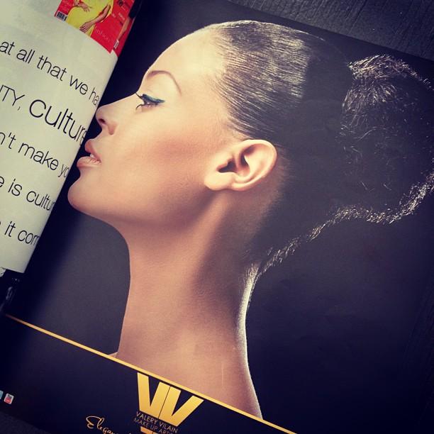 Beauty shoot! #Tearsheet #rebellemagazine #valeryvilain #makeup @anedie01