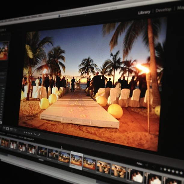 Doing what my job! #editing #weddingphotographer #photography #carribean
