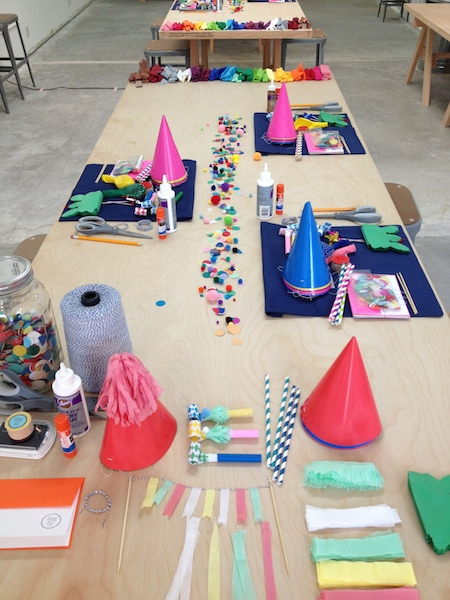 Party in a Box Table Handcraft Studio School