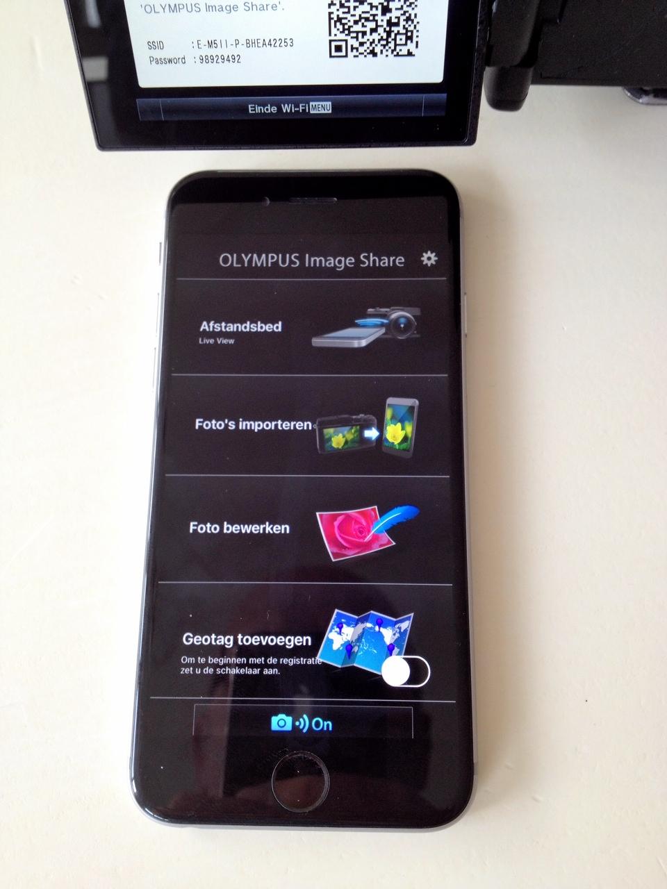 Opties via wifi en smartphone