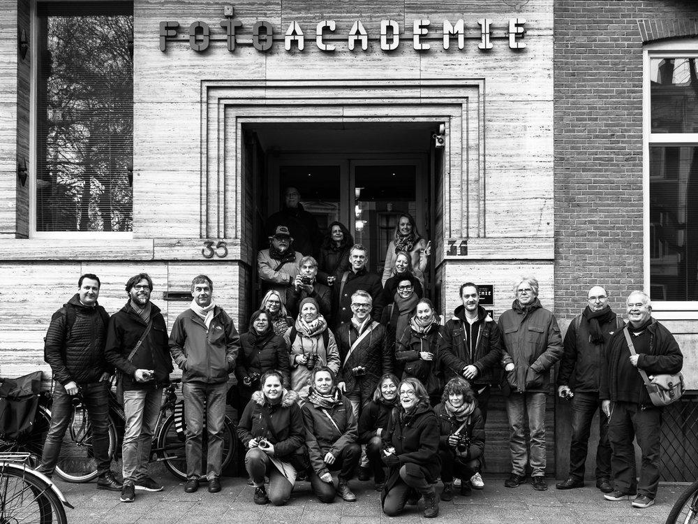 Deelnemers Olympus workshop met Fotogram en Nivo Schweitzer in Amsterdam