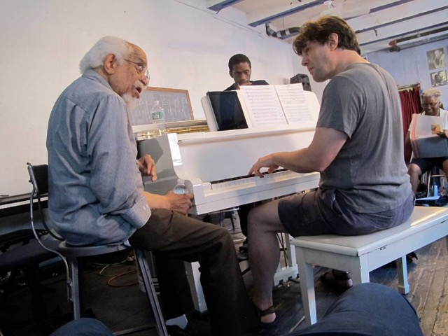 Dr. Barry Harris and Isaac at University of the Streets, NYC, August 2014
