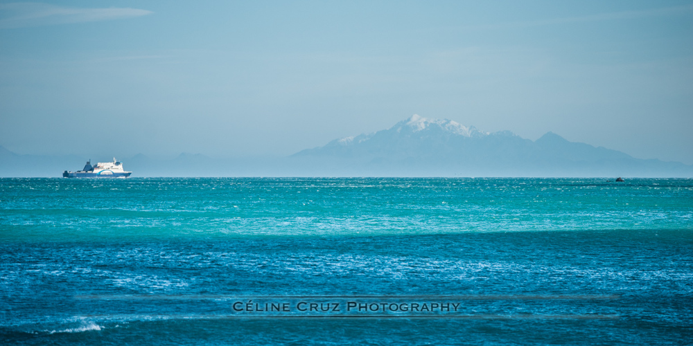 View of South Island from Owhiro Bay