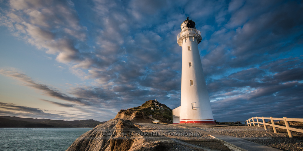 Castlepoint lighthouse in the evening light