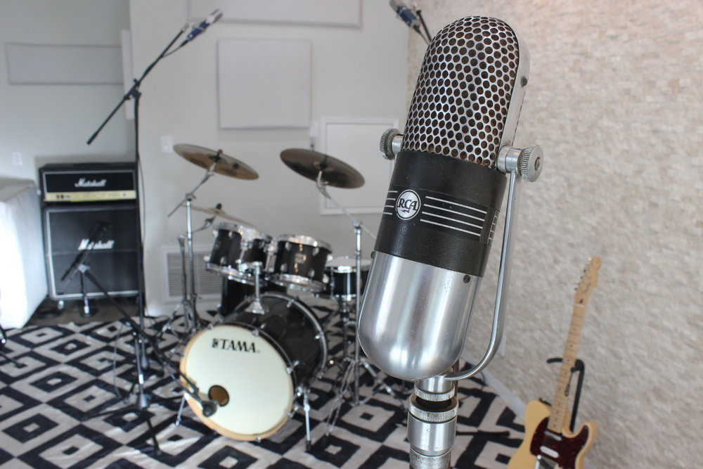 Blanck Records Live Room RCA Drums.JPG
