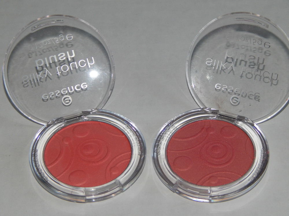 Essence Silky Touch Blush. For some reason both of these blushes had the same name (Life's a Cherry), but they are obviously different. It was probably just a manufacturing mistake, but I don't know which one is supposed to be Life's a Cherry and what the other name is supposed to be :(