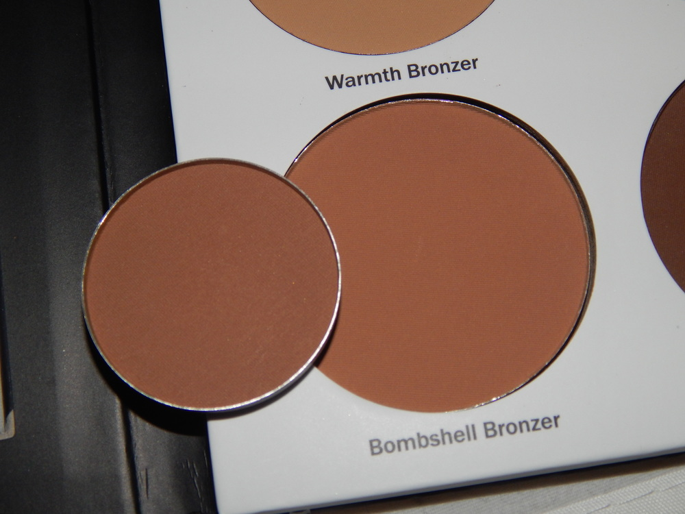 Ulta's Bombshell Bronzer compared to ABH's Havana. Havana is the darkest shade in the ABH Palette, but Bombshell Bronzer is only the 2nd darkest in the Ulta Contour Kit.