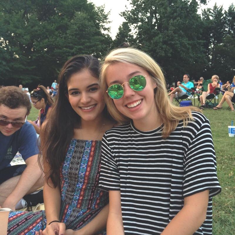 My friend Annie Bean in her cute cute sunglasses.