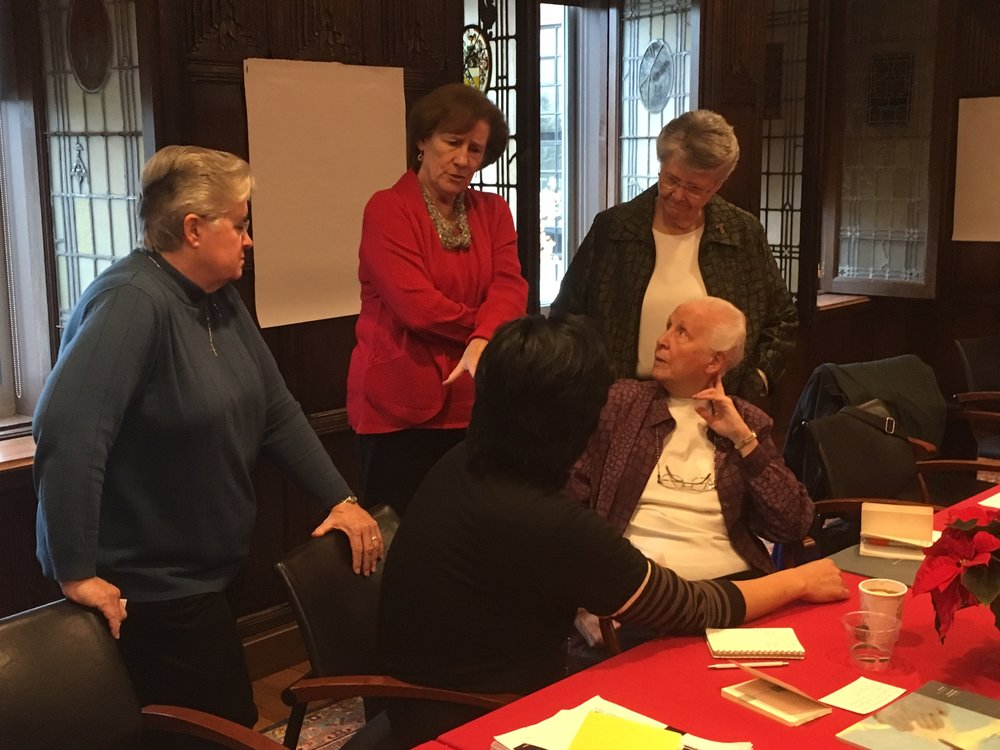 Sisters at the first Nuns & Nones gathering at the Harvard Divinity School in Cambridge, MA. November, 2016. Photo by the author.