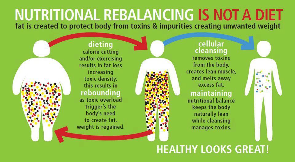 A diagram on how traditional dieting and a 30-day nutritional cellular cleanse works with Isagenix