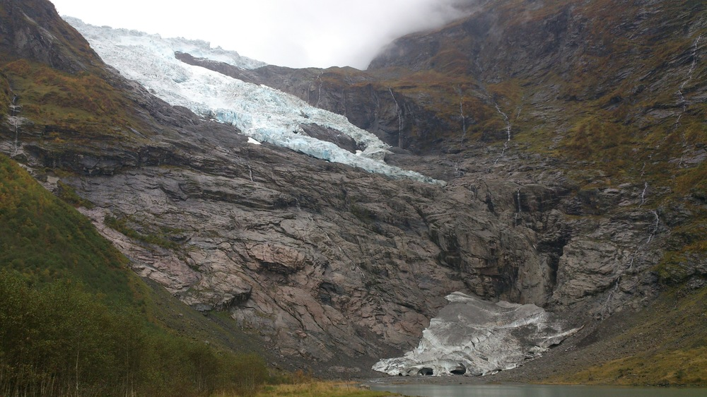 Bøyabreen Glacier October 2014. Photo: Pål Gran Kielland.