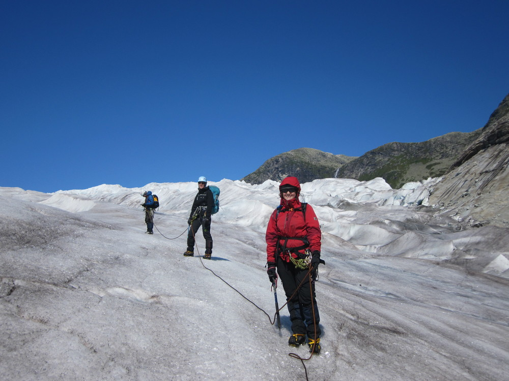 From the expedition in 2013. Photo: Julie Berg/Tunsbergdalsbreen Project.