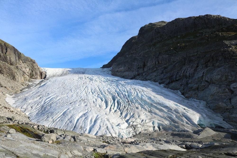 Haugabreen Glacier in 2015