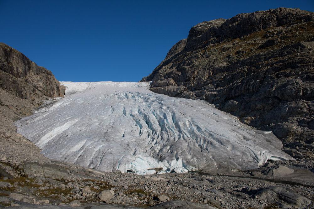 Haugabreen Glacier in 2016