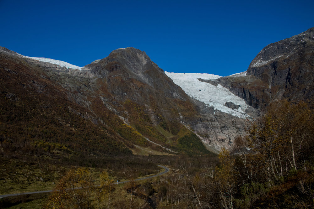 Bøyabreen Glacier 2016. Photo: Pål Gran Kielland.