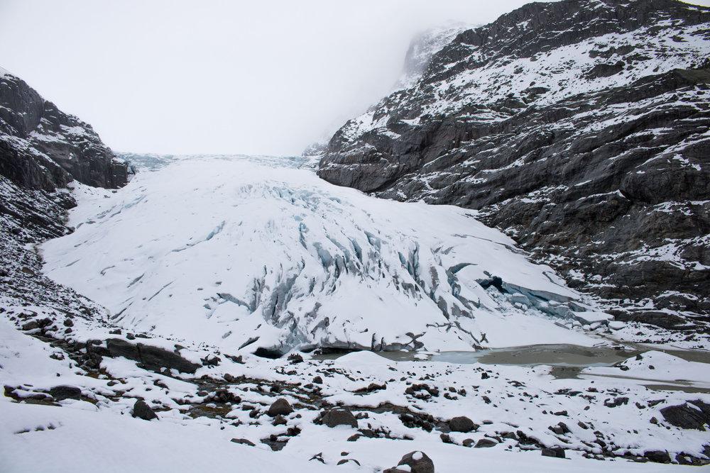 Haugabreen Glacier in 2018