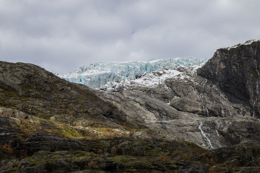 The front of Vetle Supphellebreen Glacier on October 11 in 2018.