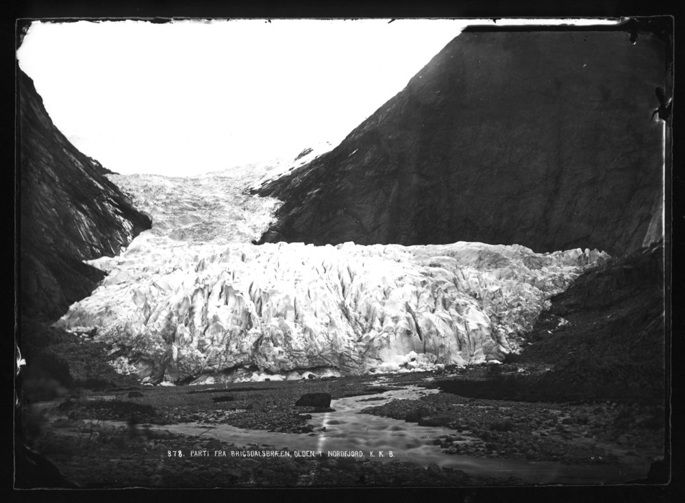 Briksdalsbreen Gletscher 1872