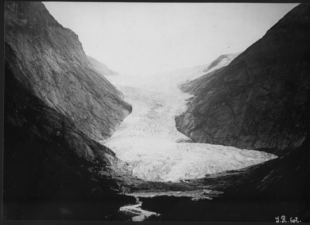 Briksdalsbreen Gletscher 1900