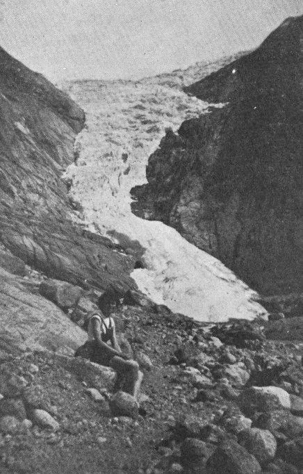 Briksdalsbreen Gletscher 1952