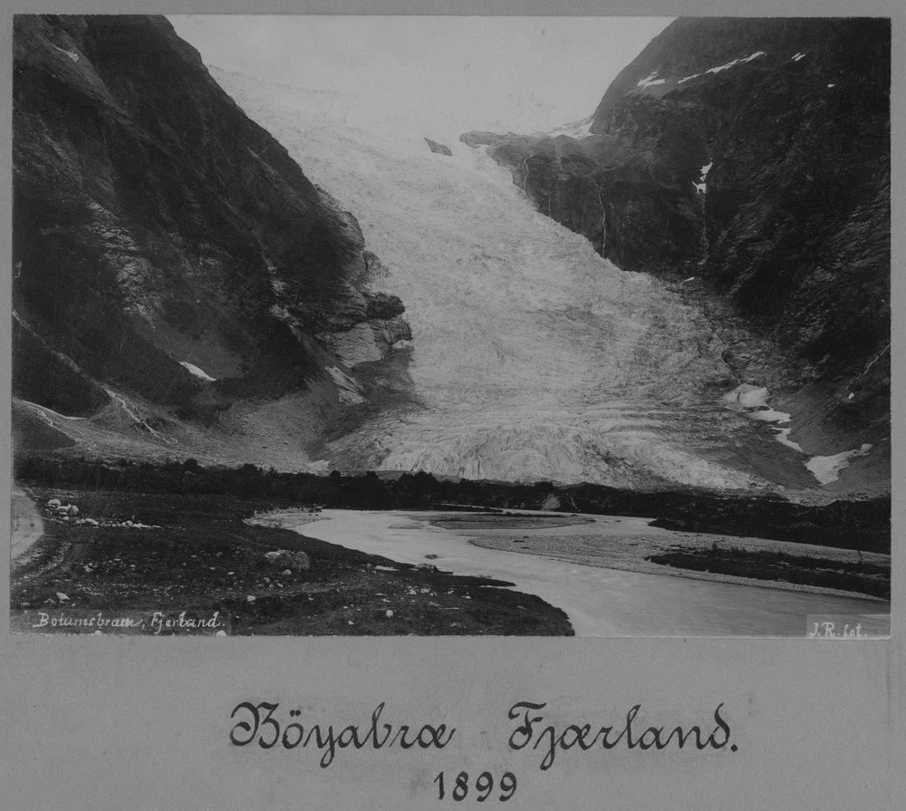 Bøyabreen Gletscher 1899