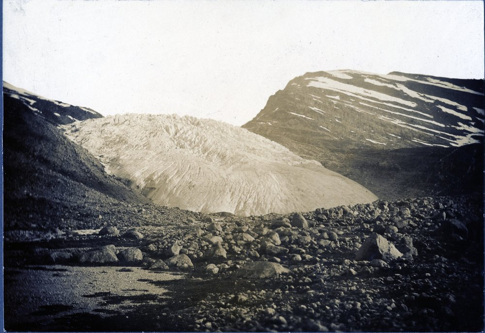 Haugabreen Gletscher in 1930s