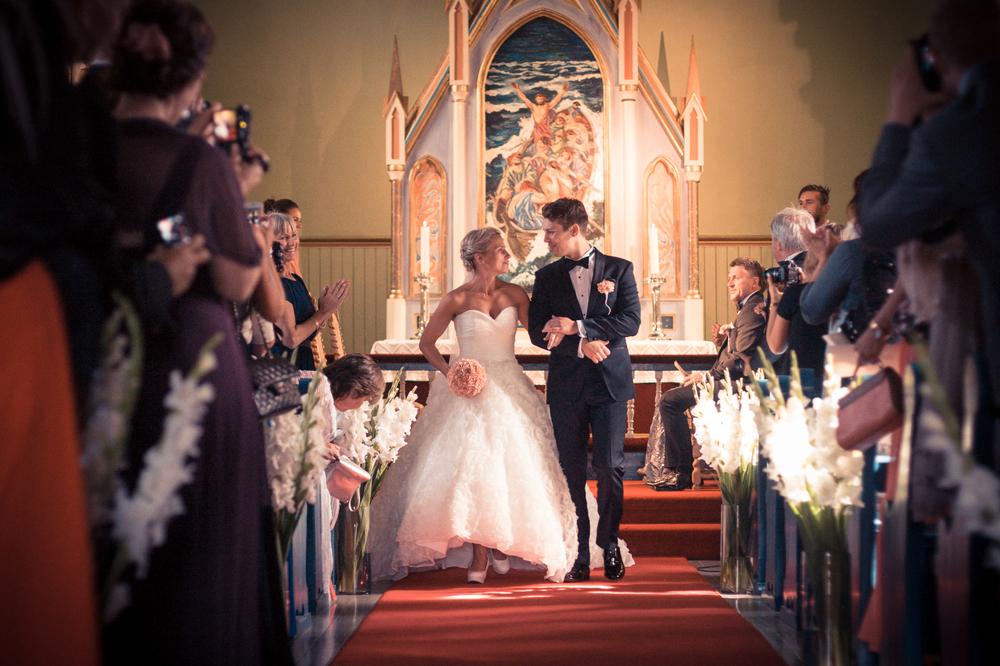 Bryllupsfotografering i Holmsbu kirke