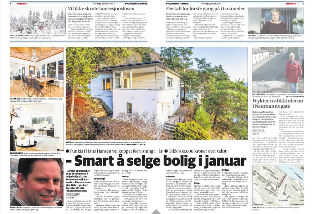 Kjempegøy å jobbe som boligfotograf Drammen, spesielt med avisoppslag :)