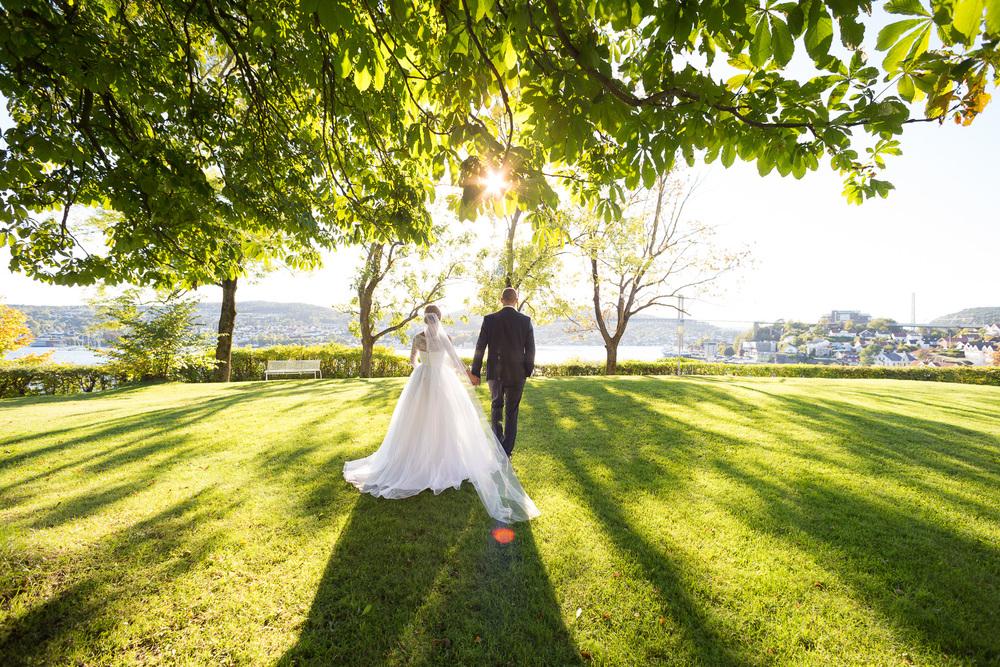 Bryllupsfotografering på Stathelle, Bamble i Telemark
