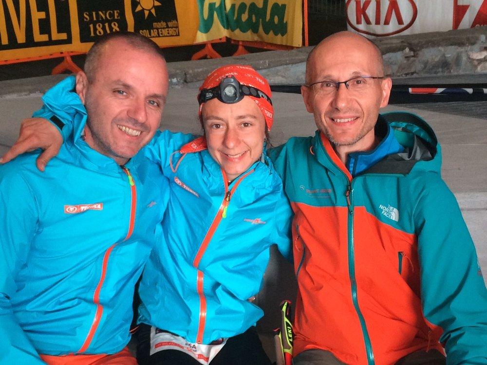 Il team: Remigo e Luca (destra) che festeggiano la vittoria di Lisa.