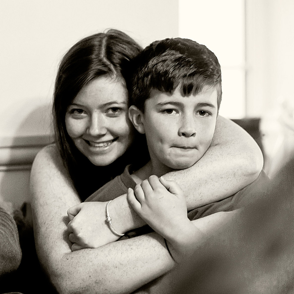 Alice and Ben, Christmas morning.