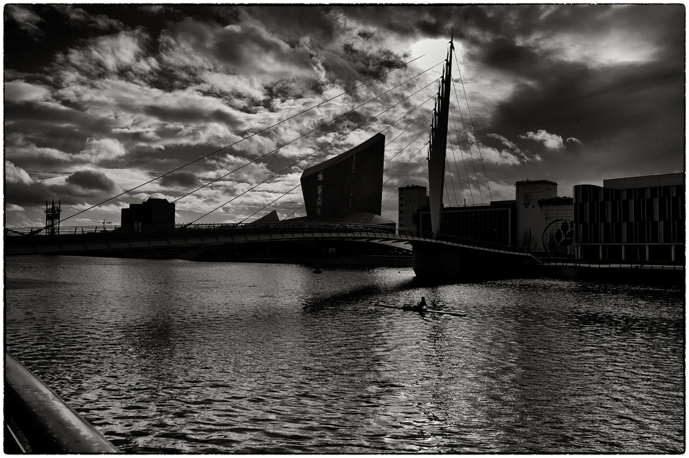 In Media City this morning.