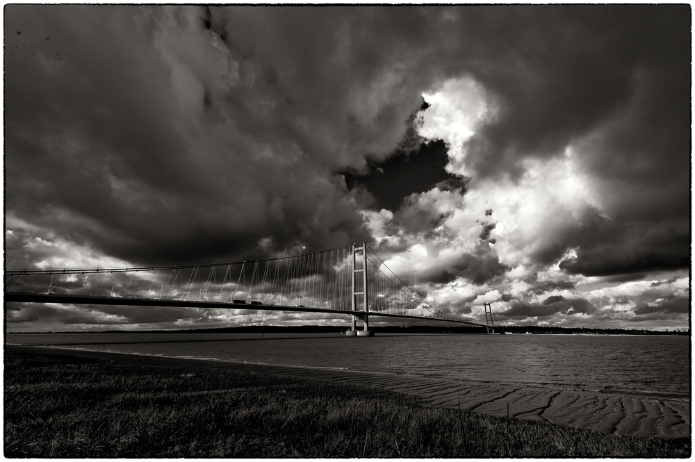 The Humber Bridge, lunchtime today.