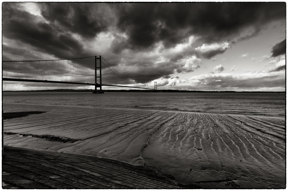 Another view of the Hunber Estuary and the bridge on a rather dramatic and windy day.
